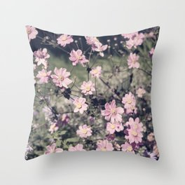 pretty faded in pink Throw Pillow