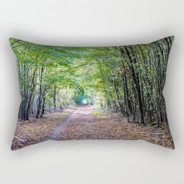 Pathway in the autumn forest Rectangular Pillow