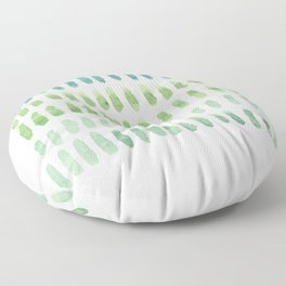 watercolor blue green no.1 Floor Pillow