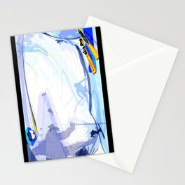 Downhill Skiing Stationery Cards