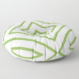 Nested Green Squares Floor Pillow