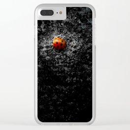 Lovely Ladybug Clear iPhone Case