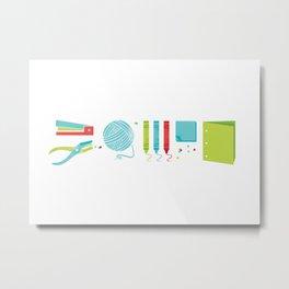 Crafty Metal Print