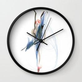 Expressive Dance Drawing Wall Clock