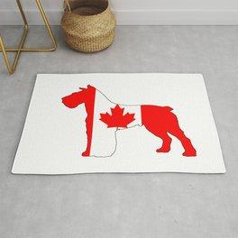 """Schnauzer """"Canada"""" Rug"""