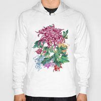 oriental Hoodies featuring Oriental Flowers by Chicca Besso