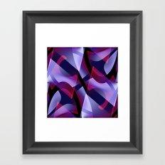 Pattern purple, pink, white Framed Art Print