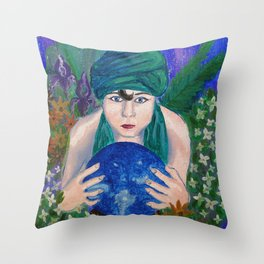 The Crystal Ball Throw Pillow