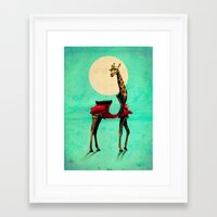 giraffe Framed Art Prints featuring Giraffe by Ali GULEC