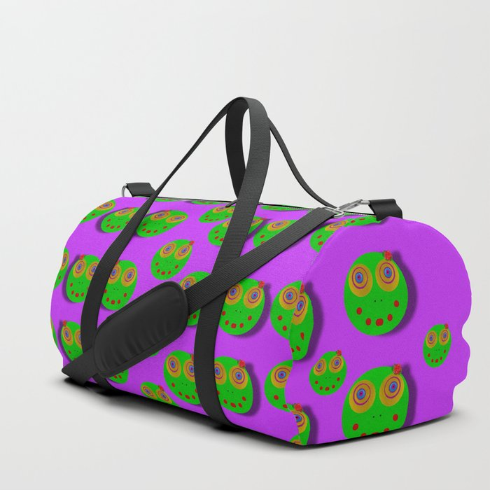 The happy eyes of freedom in polka dot cartoon pop art Duffle Bag