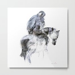 Horse (Winter Rider) Metal Print