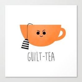 Guilt-tea Canvas Print