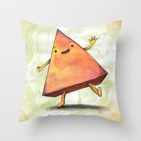 pyramid Throw Pillows featuring Pyramid by Pumpkin Snipes