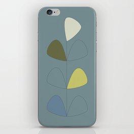 Vintage leaves grey iPhone Skin