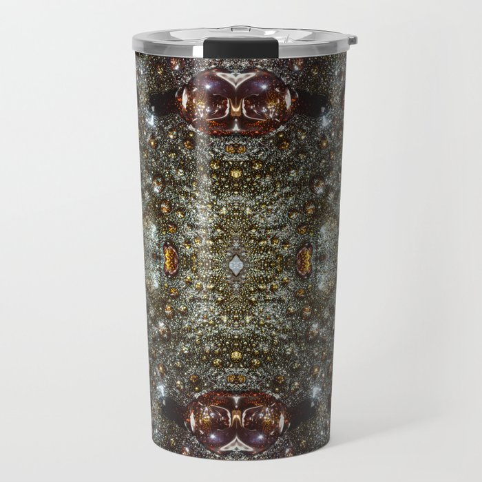 Abstract Brown Dark Gray Texture Pattern Travel Mug By Homemadecreations