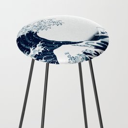 The Great Wave - Halftone Counter Stool