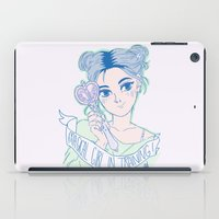 magical girl iPad Cases featuring MAGICAL GIRL IN TRAINING by Natalie Nardozza