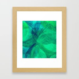 Circular Deconstruction III Framed Art Print