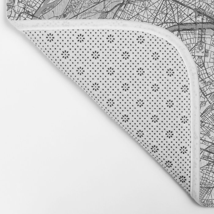 Paris Map Line Bath Mat