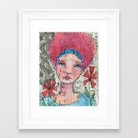 zelda Framed Art Prints featuring Zelda by Judy Skowron