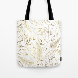 Holiday golden Tote Bag