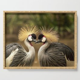 Grey Crowned Crane Serving Tray