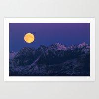 moonrise Art Prints featuring Moonrise by 3AMArts
