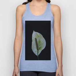 Peace Lily on Black #1 #floral #decor #art #society6 Unisex Tank Top