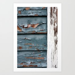 Blue and White Paint Art Print