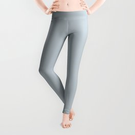 Purely Refined Light Pastel Blue Grey Solid Color Pairs To Sherwin Williams Upward SW 6239 Leggings