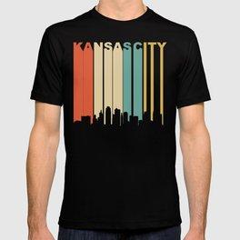 Retro 1970's Kansas City Missouri Downtown Skyline T-shirt