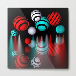 colors and dimensions Metal Print