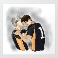 haikyuu Art Prints featuring Defeated Haikyuu!! by Pruoviare
