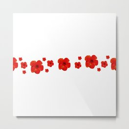 Minimal Floral Print Decor Design Metal Print