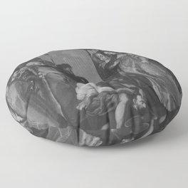 Peter Paul Rubens - Tomyris lässt das Haupt des Cyrus in Blut tauchen (nach dem Stich von Paulus Pon Floor Pillow