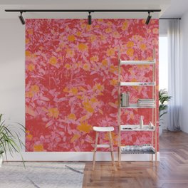 Red pink and orange tritone floral photography Wall Mural