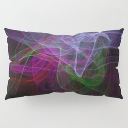 Smooth smoke waves of multiple colors Pillow Sham