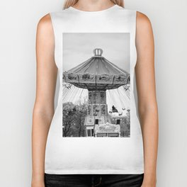 Carousel black and white #carousel #blackandwhite Biker Tank