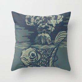 Seismic Waves Throw Pillow