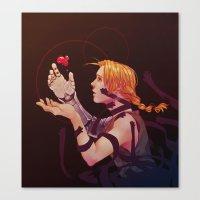 fullmetal Canvas Prints featuring edward by emvli