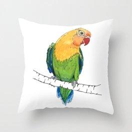 Lovebird Listener Throw Pillow