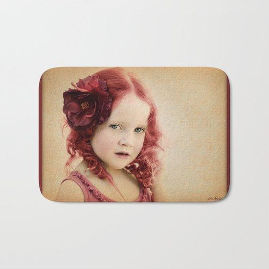 Mila as a Vintage Rose Bath Mat