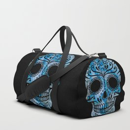 Blue Lace Sugar Skull Duffle Bag