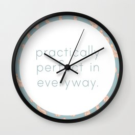 Practically Perfect - Penis in Blue Wall Clock
