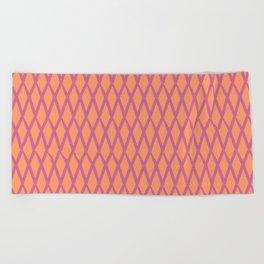 net pink and orange Beach Towel