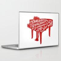 lyrics Laptop & iPad Skins featuring Piano lyrics by saralucasi