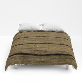 rustic wood planks Comforters