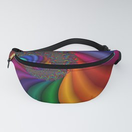 fractal spirals and colors -10- Fanny Pack