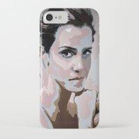 emma watson iPhone & iPod Cases featuring Emma Watson by Sensitive Derais