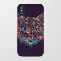 space cat iPhone & iPod Cases featuring Space Cat by dan elijah g. fajardo